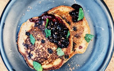 Sourdough Blueberry & Flax seed Pancakes