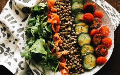 Green Lentil Salad with Maple Mustard Dressing